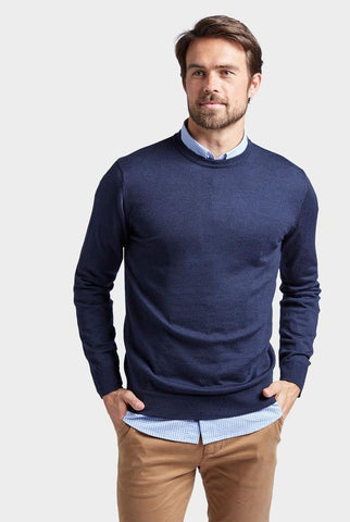 The Academy Brand Merino Crew - Navy