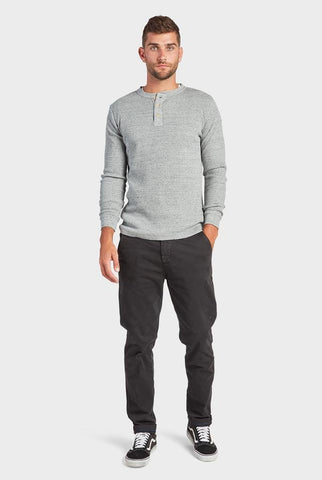 The Academy Brand Sycamore LS  Henley - Grey Marle