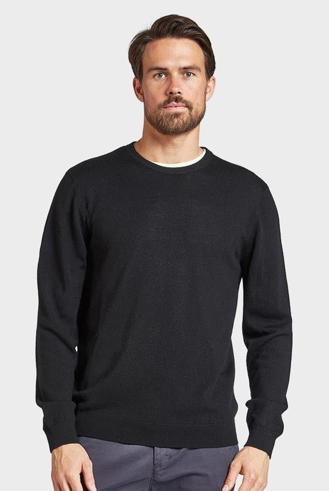 The Academy Brand Merino Crew - Black