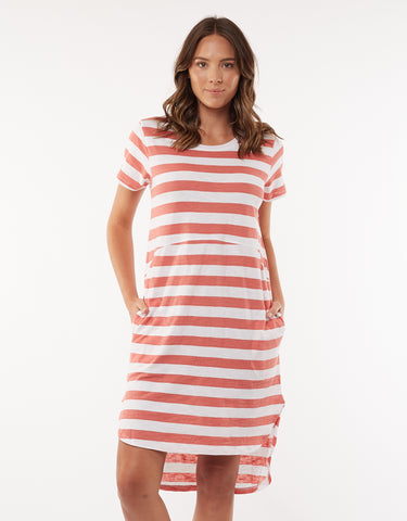 Foxwood Bayley Dress in Copper Stripe