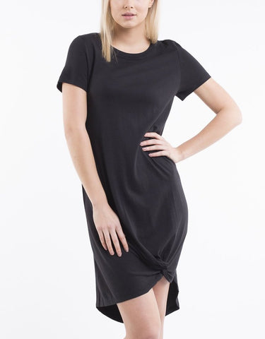 Silent Theory Twisted Tee Dress - Black