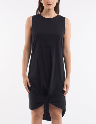 Silent Theory Twisted Tank Dress -  Black