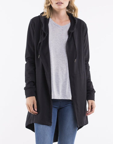 Silent Theory Ashleigh Hooded Cardi - Black