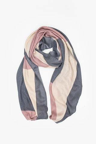 Antler Scarf - Grey/Blush/Cream