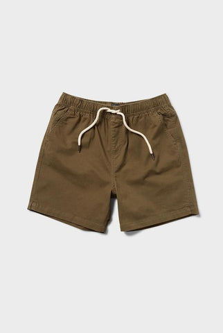The Academy Brand Volley Short - Khaki
