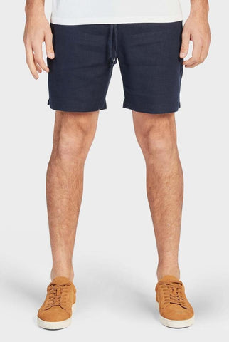The Academy Brand Riviera Linen Short - Navy