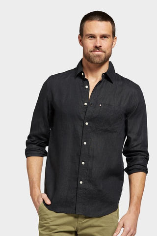 The Academy Brand Hampton Linen Shirt - Black