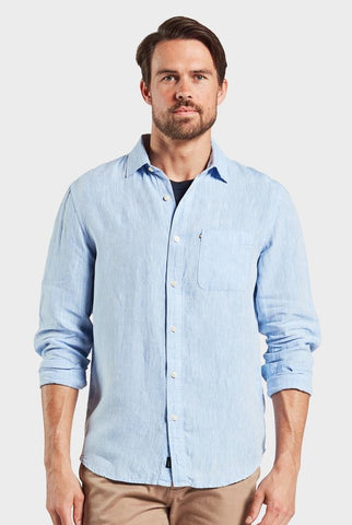The Academy Brand Hampton Linen Shirt - Chambray