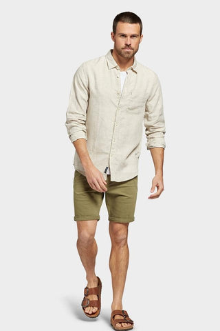The Academy Brand Hampton Linen Shirt - Oatmeal