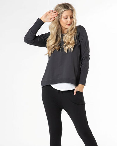 Betty Basics Dolly Sweat - Gunmetal