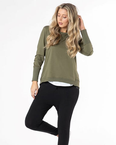 Betty Basics Dolly Sweat - Khaki