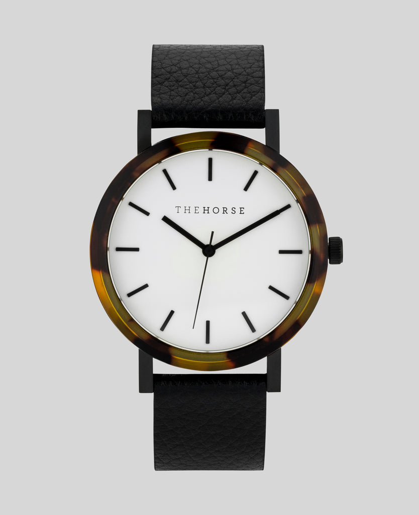 The Horse Watch - Tortoise Shell (White Face/Black Band)