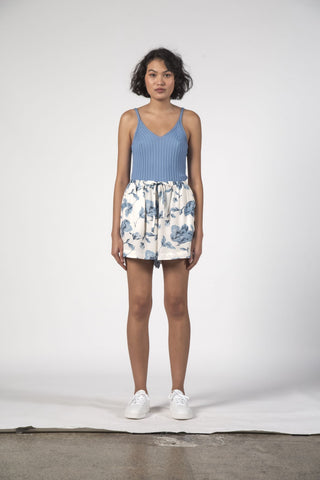 Thing Thing Mae Shorts - Floral Blue