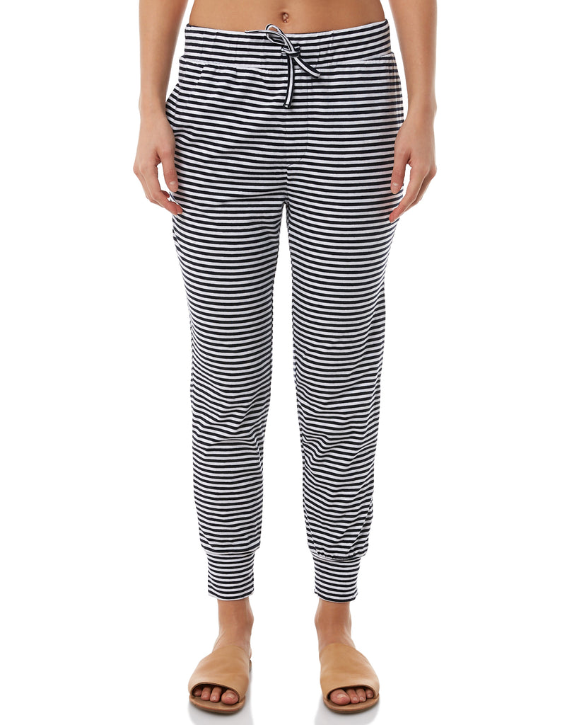 Silent Theory Falling Bricks Pants - Navy White Stripe (thin stripe)