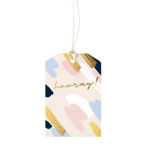Elm Paper Gift Tag - Painty Blush