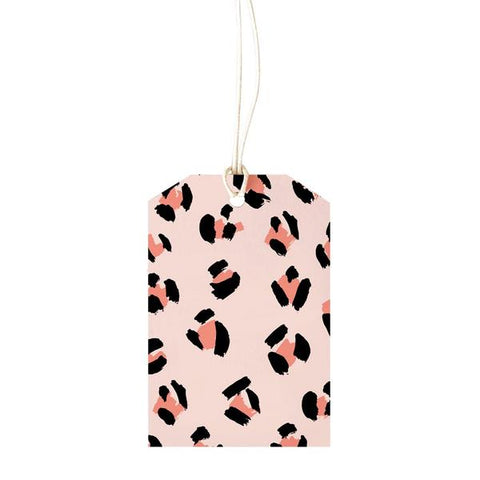 Elm Paper Gift Tag - Leopard Peach