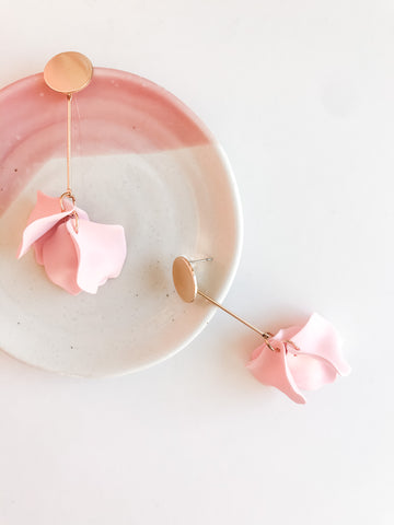 Willow Collective Petal Dangles - Blush