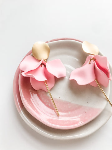 Willow Collective Flora Dangles - Blush