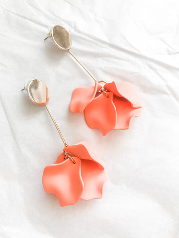 Willow Collective Petal Dangles - Peach