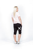 Home-Lee 3/4 Apartment pants - Black with White X