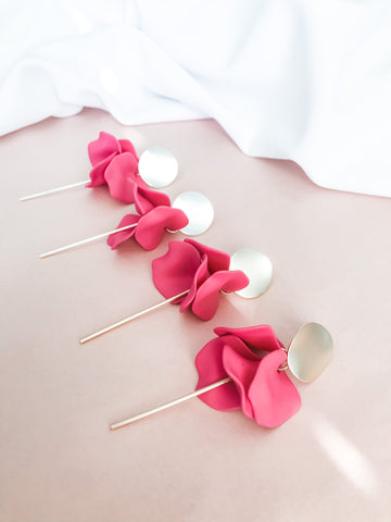 Willow Collective Flora Dangles - Rose
