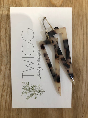Twigg Spindle Tortoiseshell Earrings