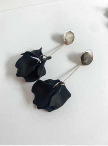 Willow Collective Petal Dangles - Black