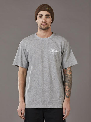 Just Another Fisherman Snapper Logo Tee - Grey Marle
