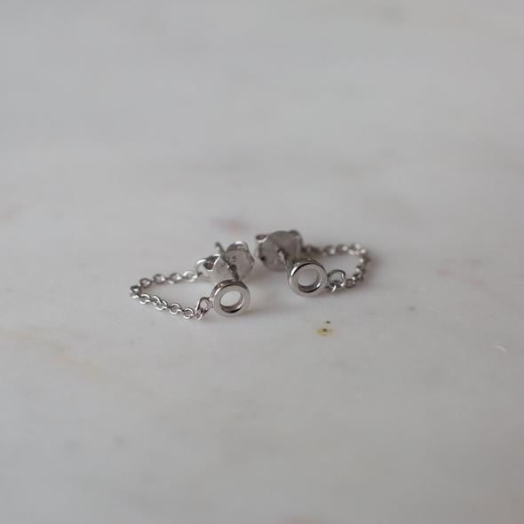 Sophie Oh My Chain Studs - Silver