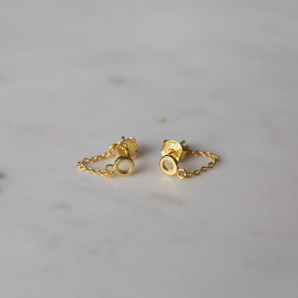 Sophie Oh My Chain Studs - Gold