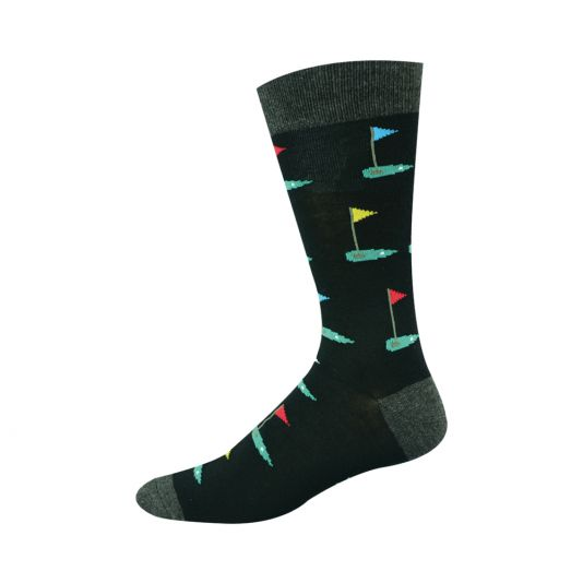Bamboozld Mens Sock - Golf Green