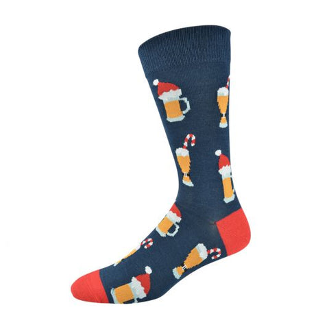 Bamboozld Mens Sock - Xmas Beer
