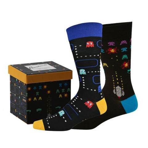 Bamboozld Mens 2 Sock Gift Pack - Retro Arcade