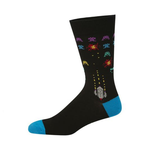 Bamboozld Mens Sock - Space Invaders