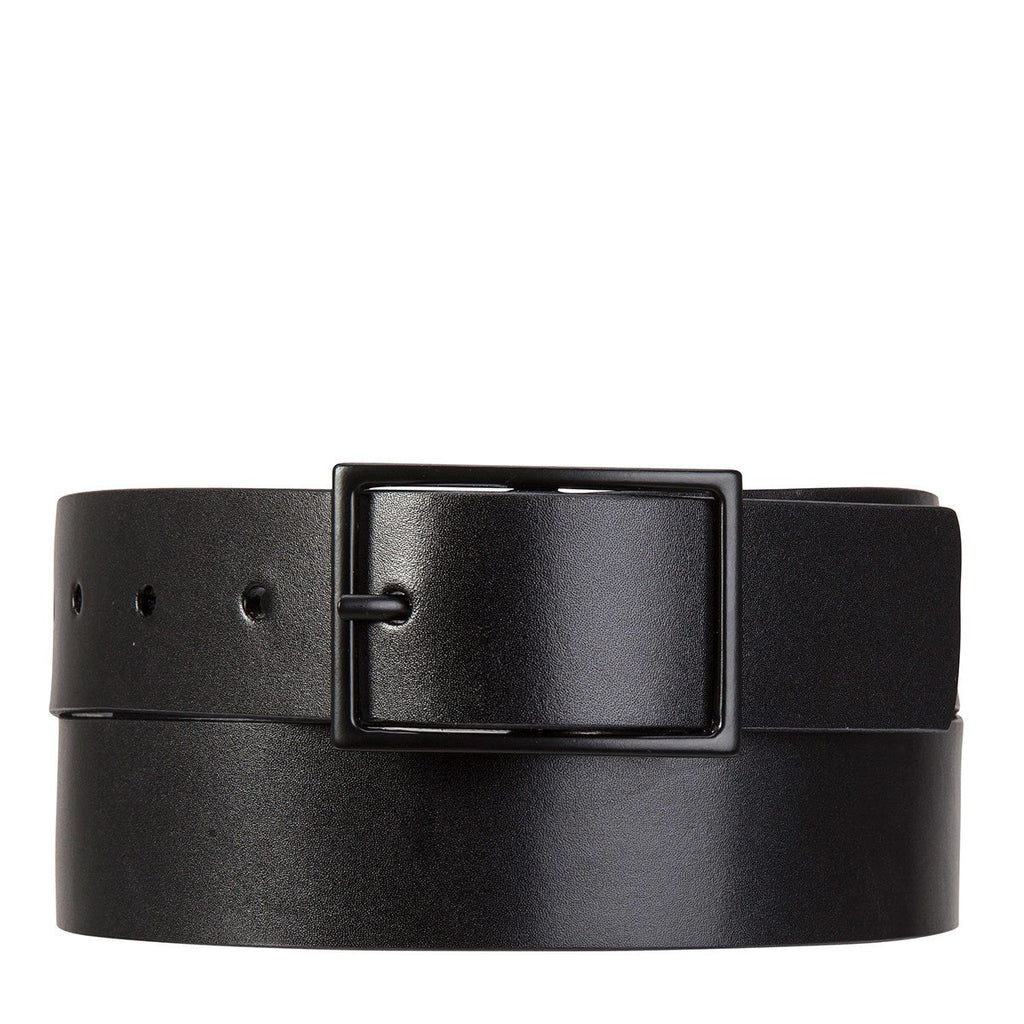 Status Anxiety Natural Corruption Belt - Black | Status Anxiety Mens Belts NZ