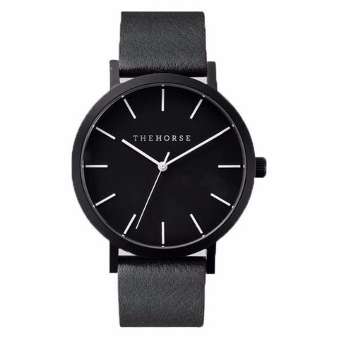 The Horse Watch - Black Face/Black Leather