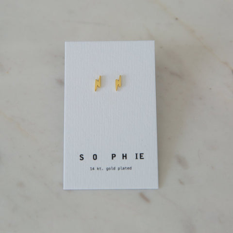 Sophie Flashy Stud Earrings - Gold