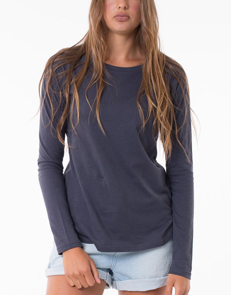 Silent Theory Kara Long Sleeve Tee - Navy