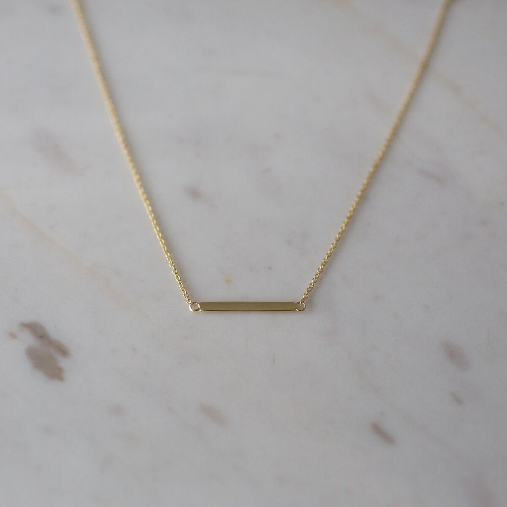 Sophie Mini Bar Necklace - Gold