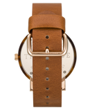 The Horse Watch - Caramel Treacle (Tan Band/White Face/Rose Gold Index)