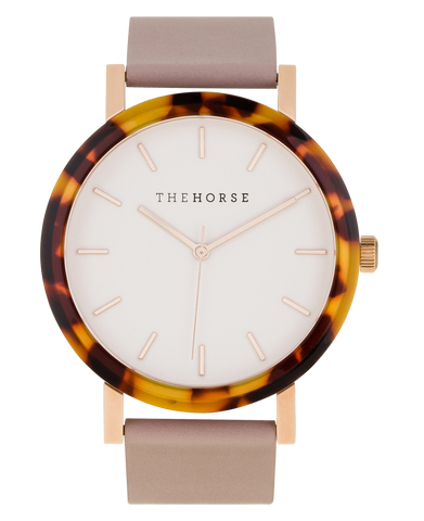 The Horse Watch - Tortoise Shell (Blush Band/White Face)