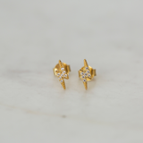Sophie Sparkle Flashy Studs - Gold