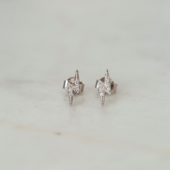 Sophie Sparkle Flashy Studs - Silver