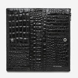 Status Anxiety In the Beginning Wallet - Black Croc Emboss