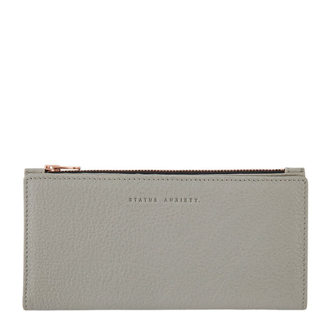 Status Anxiety In the Beginning Wallet - Light Grey