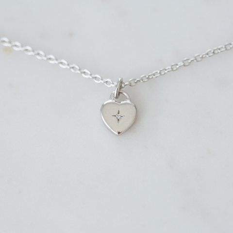 Sophie Sweetheart Necklace - Silver