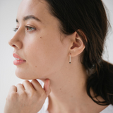 Silver Sophie Mini Rock Thread Earrings