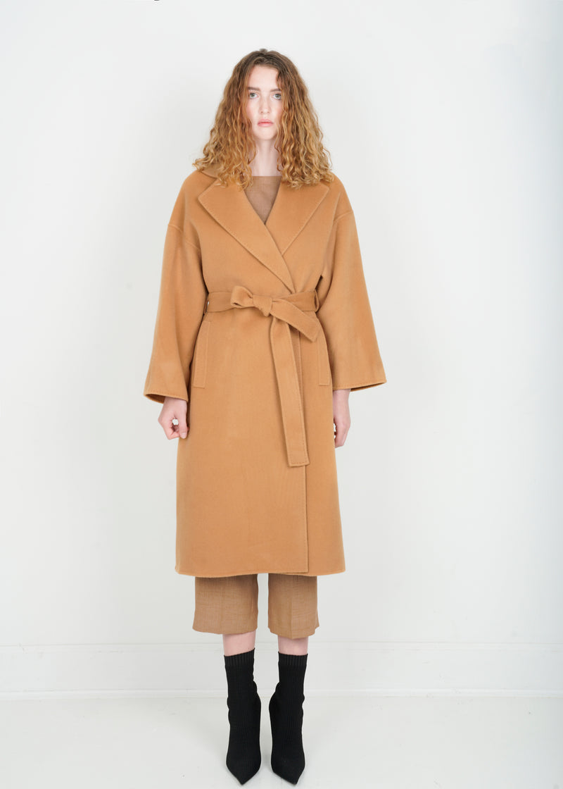 Stitched Wrap Coat - Camel