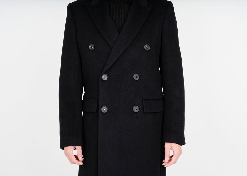Lambs Wool Double Coat - Black