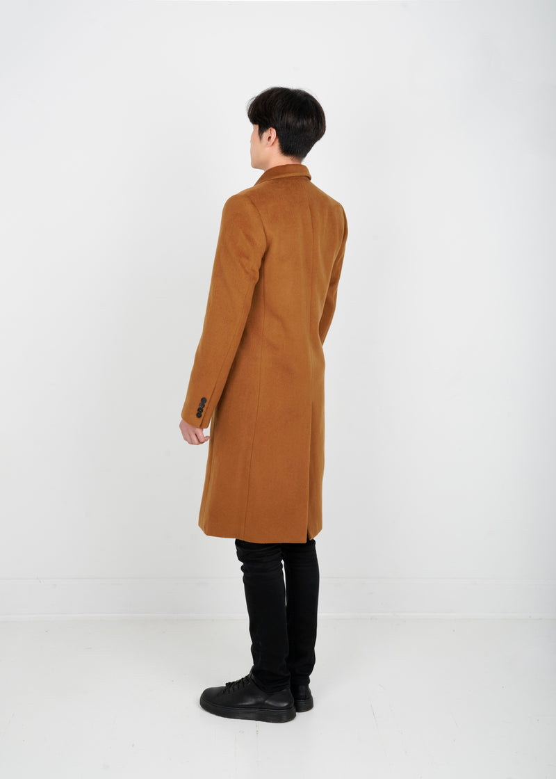Lambs Wool Double Coat - Camel